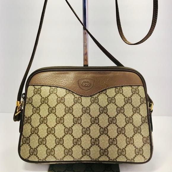 1ce6755012a8 Gucci Bags | Authentic Vintage Gg Mono Canvas Shoulder | Poshmark